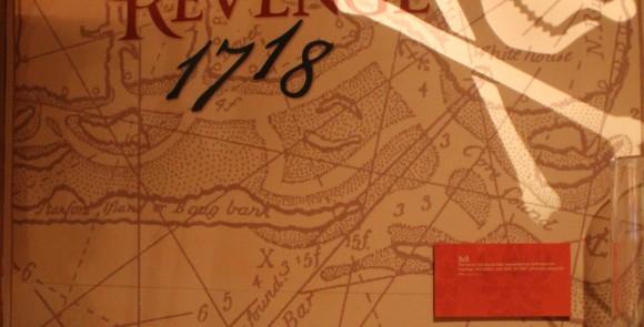 Photo of the Queen Anne's Revenge exhibit